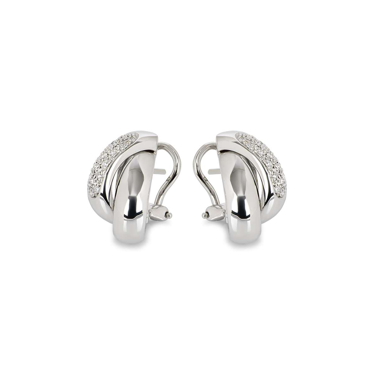 18k White Gold Diamond Earrings 0.50ct G/VS2